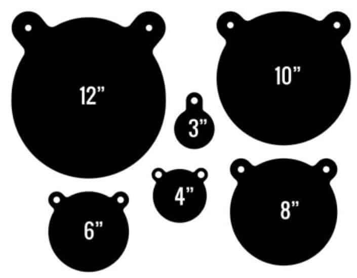 Rogue Shooting Targets - Some Target Sizes