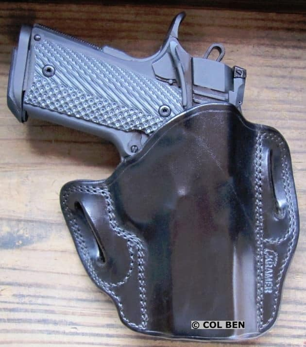 Kramer Leather OWB Durable Horsehide Leather Belt Scabbard Holster with RIA 1911 TAC Ultra CS 9mm