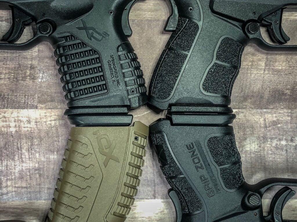 Various Springfield Armory Grip Textures