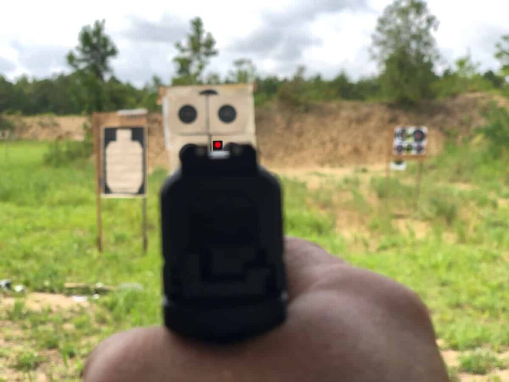 XD-S 9mm Fiber Optic Front Sights in Daylight