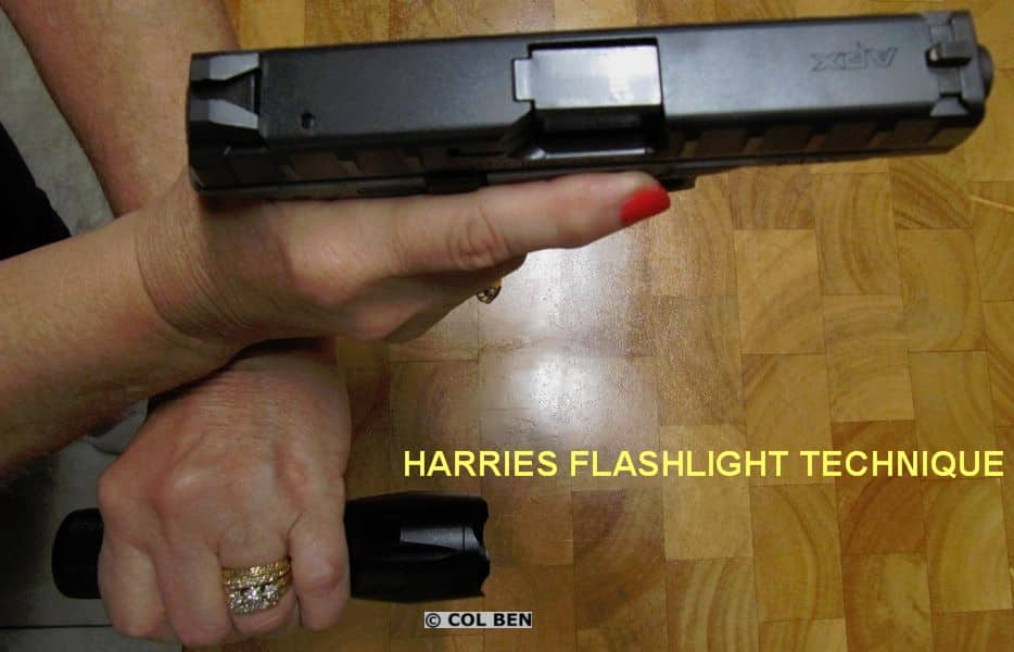 Harries Flashlight Shooting Technique