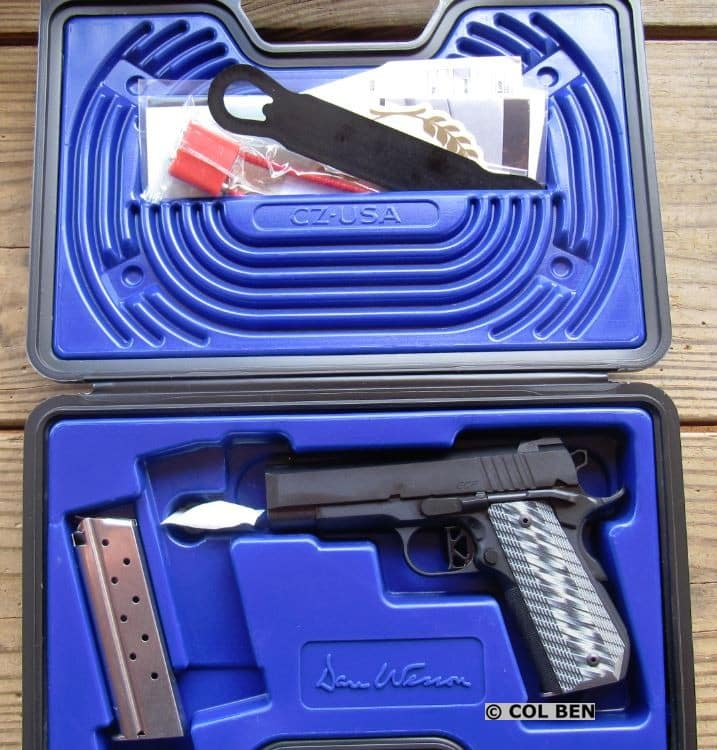 Dan Wesson 1911 ECP Compact 9mm in Hard Case with 2 Mags, Lock, Instruction Manual & Bushing Wrench (Extra)