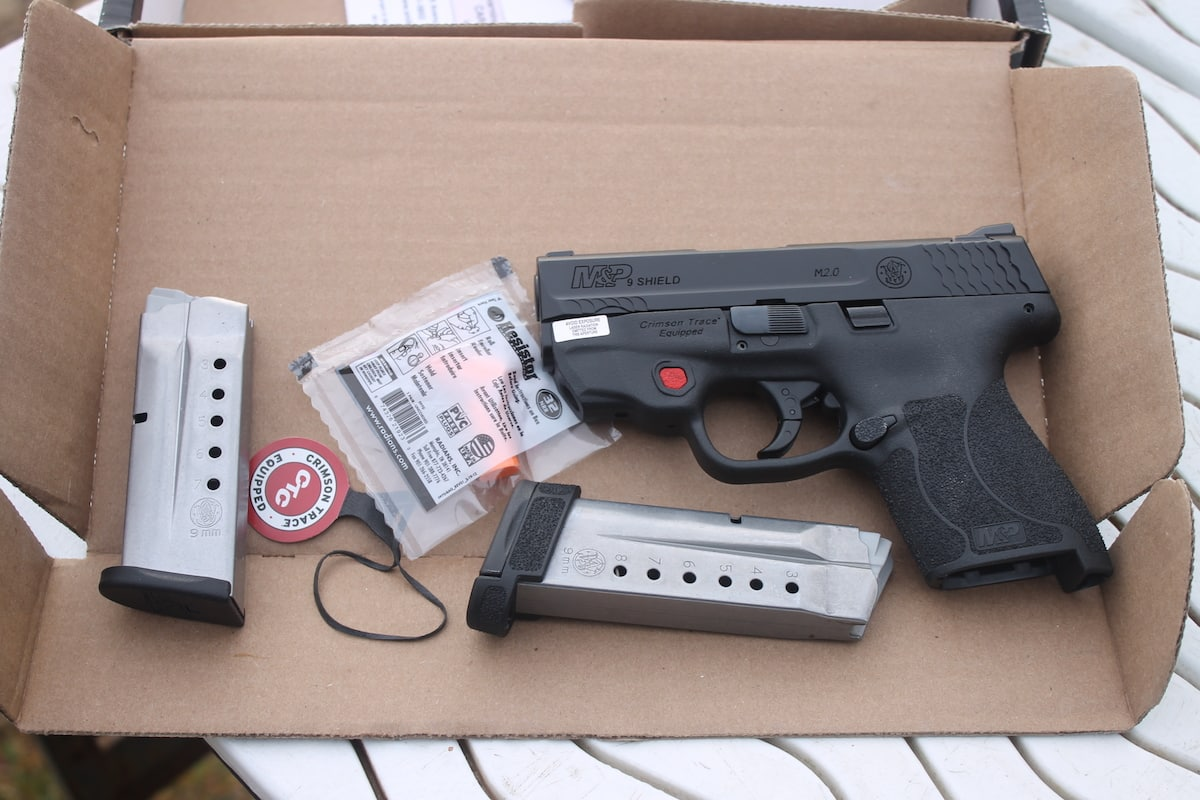 M&P9 SHIELD M2 0 with Integrated Crimson Trace Red Laser