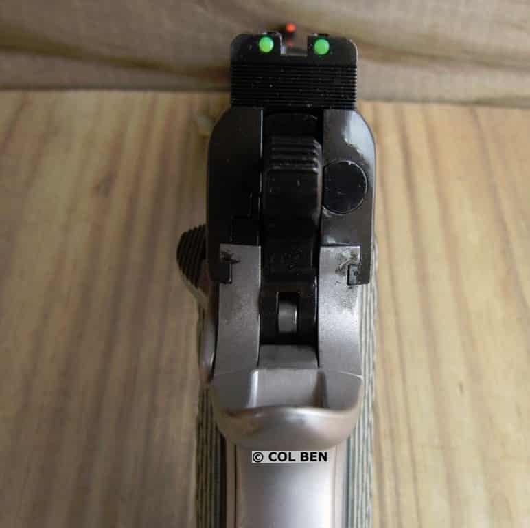 Fiber Optic Sights: Red Front and Green Rear on the Kimber Aegis Elite Pro 9mm Compact 1911