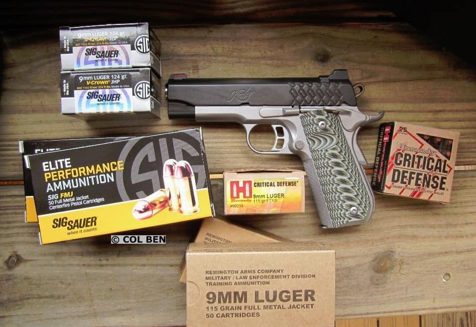 Kimber Aegis Elite Pro 9mm Compact 1911 - Very Accurate with Various Trial Ammo: Sig Sauer, Hornady, and Remington