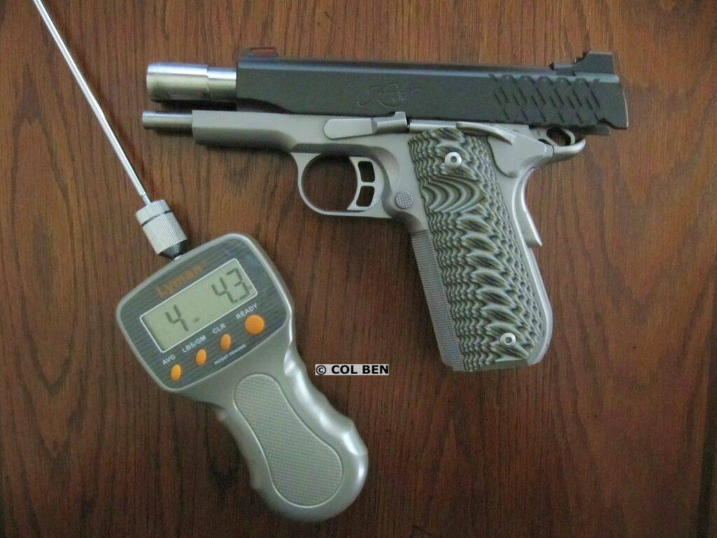 Kimber Aegis Elite Pro 9mm Compact 1911 Trigger Press
