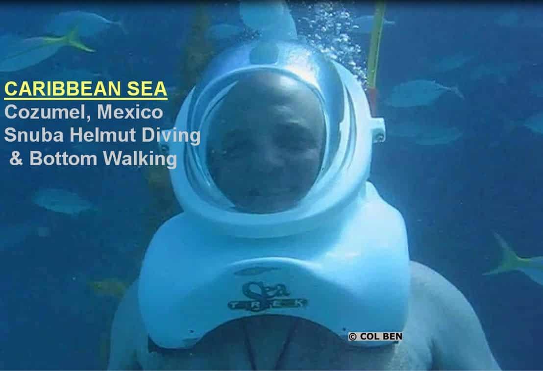 Col Ben Scuba Diving in Mexico's Yucatan Peninsula...Without a Gun