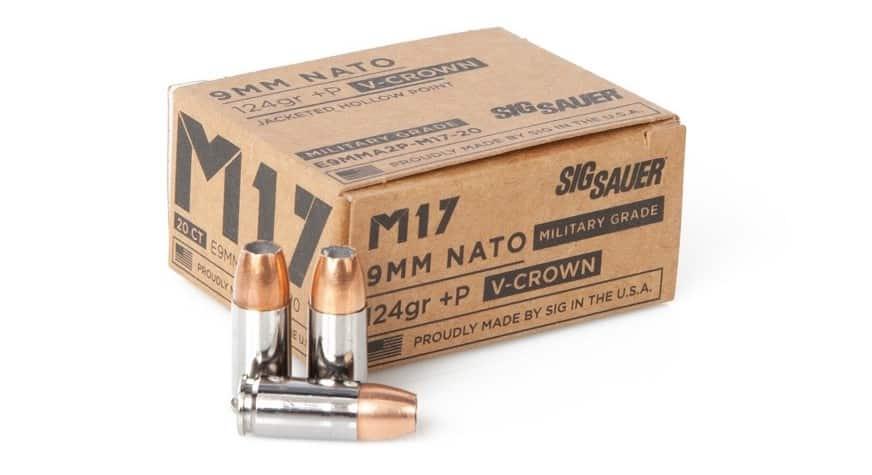 Sig Sauer 9MM +P, 124GR, ELITE V-CROWN M17 JHP