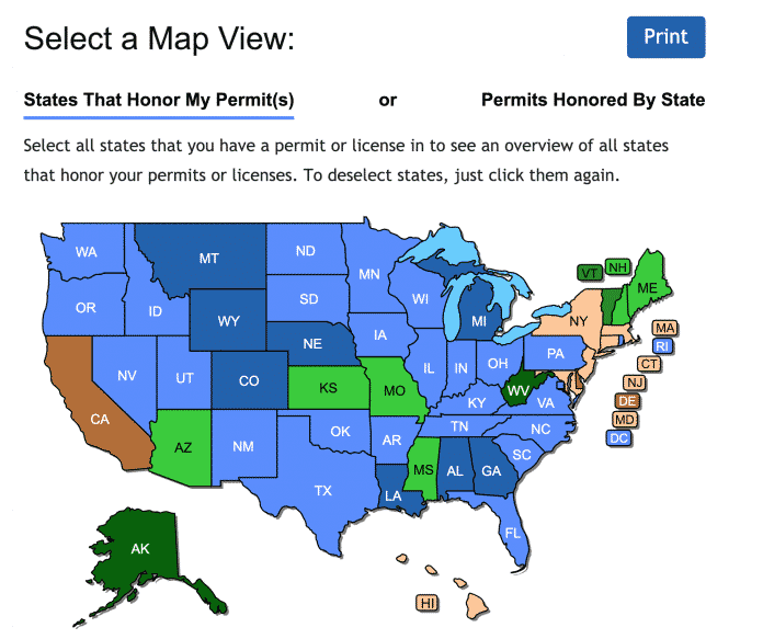 Concealed Carry Maps