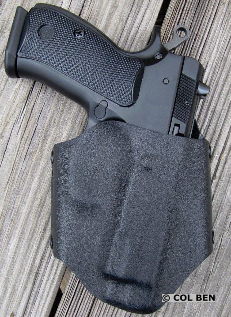 CZ 75 Compact in Alabama Holster's OWB Flapjack Holster
