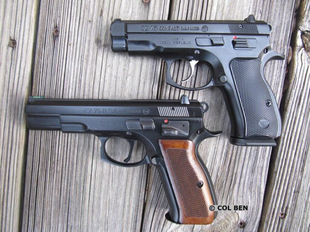 CZ 75 Compact vs CZ 75 B SAO Full-Size
