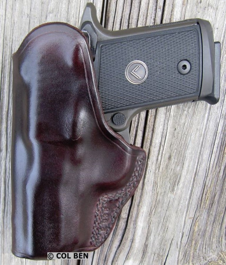 Kramer Leather IWB Cowhide Leather Clip Holster- Below the Waistband with Sig Sauer P938 Legion 9mm