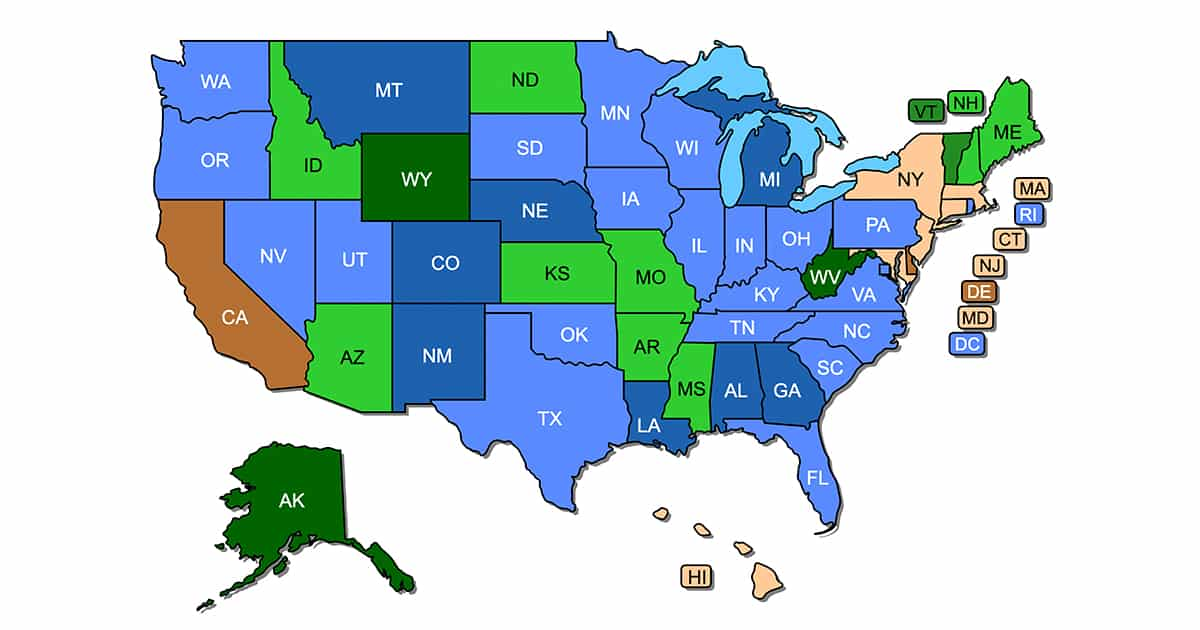 Concealed Carry Permit Reciprocity Maps v5.1 (Updated Mar. 23, 2019)