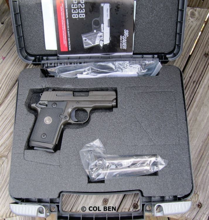 Sig Sauer P938 Legion in Hard Case with Mag, Lock, Instruction Manual, Bore Flag & 3 Mags