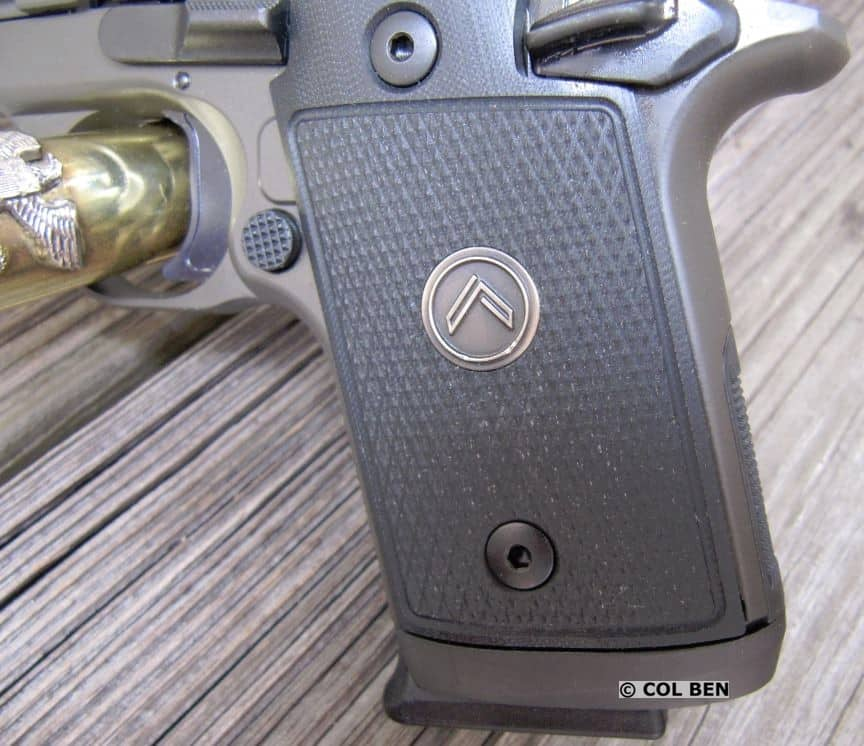 G-10 Durable Grips with Medallion on Sig P938 Legion 9mm