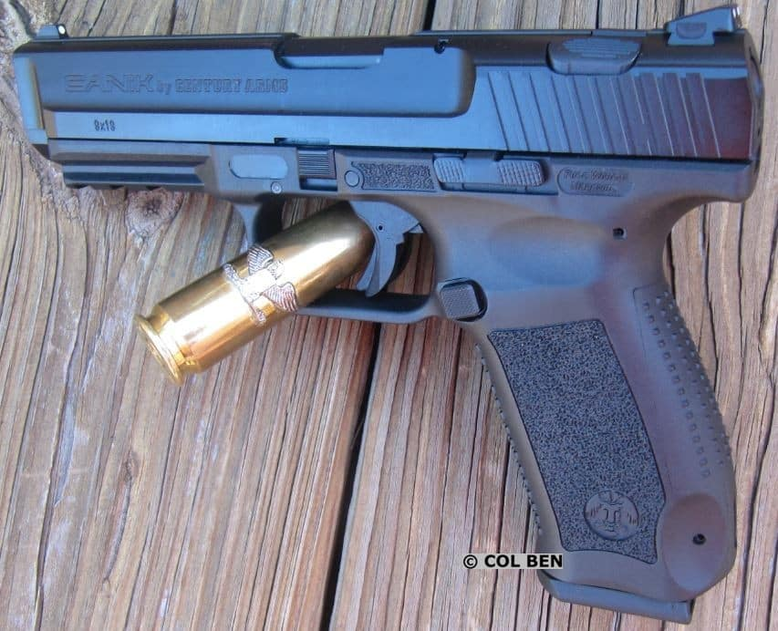Canik TP9SA: Single-Action Striker, Changeable Backstraps, Fine Trigger, 18-round Mag, Chamber Indicator, Rail
