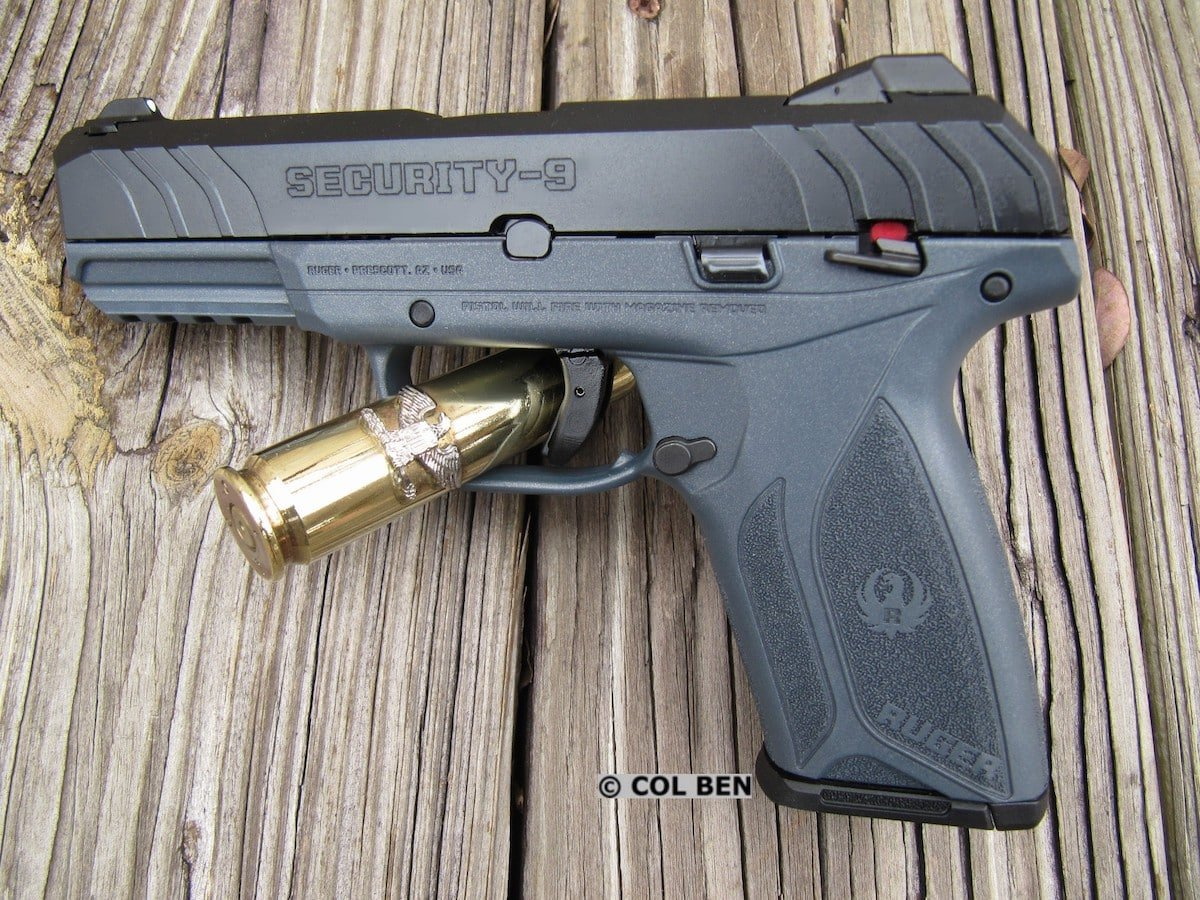 Ruger Security-9: Very Narrow Grip, Thin Profile, Hammer-Fired, Steel Slide & Barrel, Bladed Trigger Safety