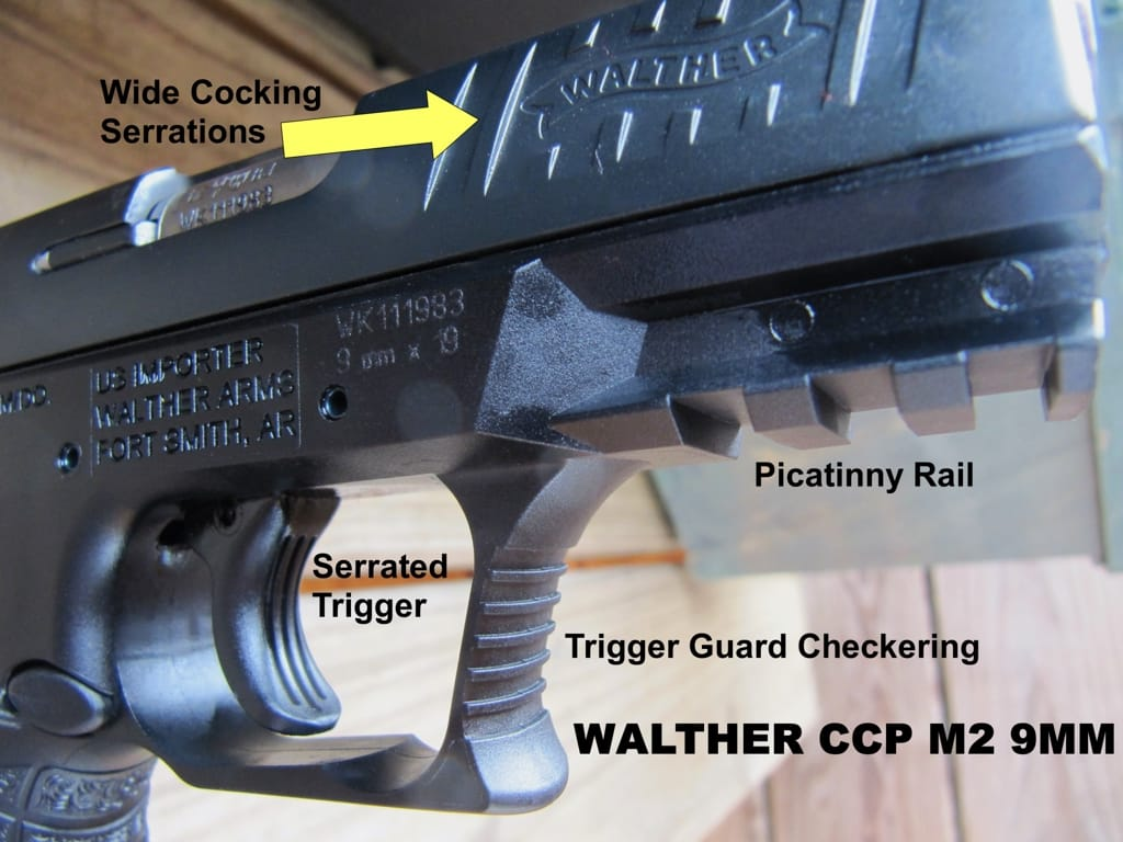 Walther CCP M2 Serrated Trigger and Trigger Guard Checkering