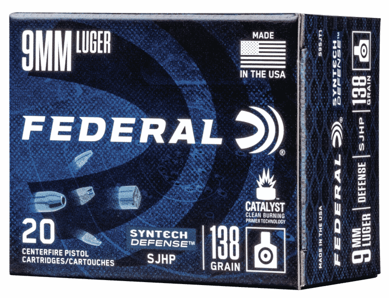 Federal SynTech Fragmenting hollow point ammunition.