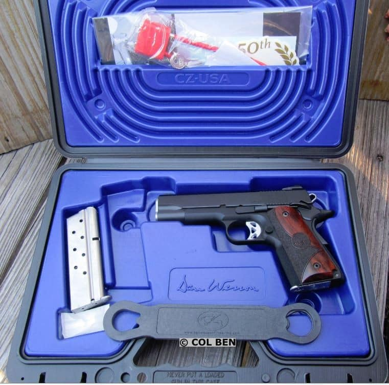 Dan Wesson Vigil CCO 9mm 1911 in Hard Case with 2 Magazines, Lock, Instruction Manual & Bushing Wrench