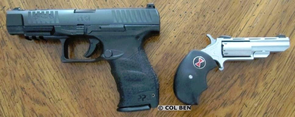Walther PPQ vs. NAA Black Widow Grip Width