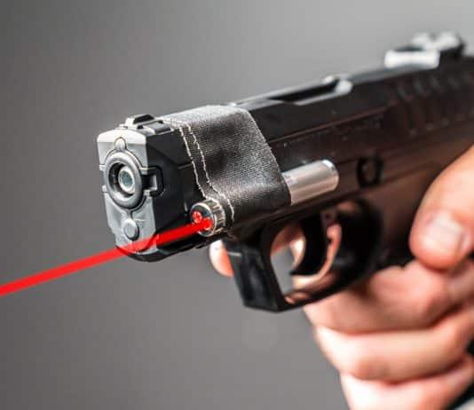 Pellet Gun w/ Laser Pointer Vs. Handgun   Which One Do You Think Won?