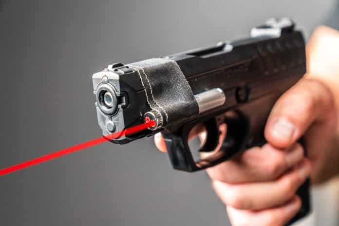 Pellet Gun w/ Laser Pointer Vs. Handgun | Which One Do You Think Won?