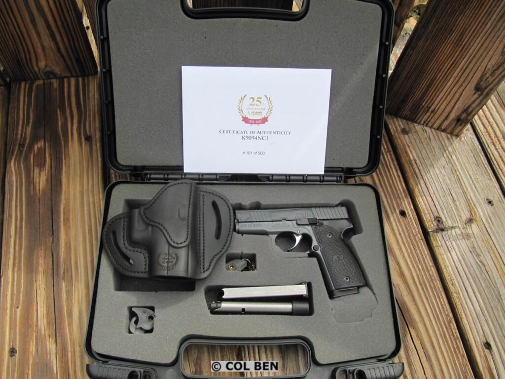 Kahr 25th Anniversary K9 in Hard Case with 3 Mags, Trigger Lock, Holster, Authenticity Certificate, & Instruction Manual
