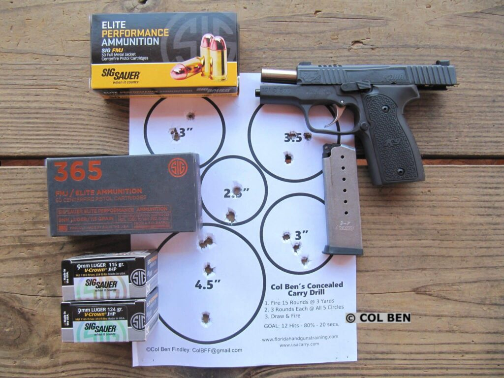 Target Hits for the Kahr 25th Anniversary Limited Edition K9 Compact 9mm: At 7 Yards with my Concealed Carry Drill