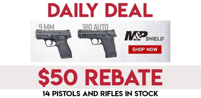 Daily Deals: $50 Rebate on All S&W M&P Pistols