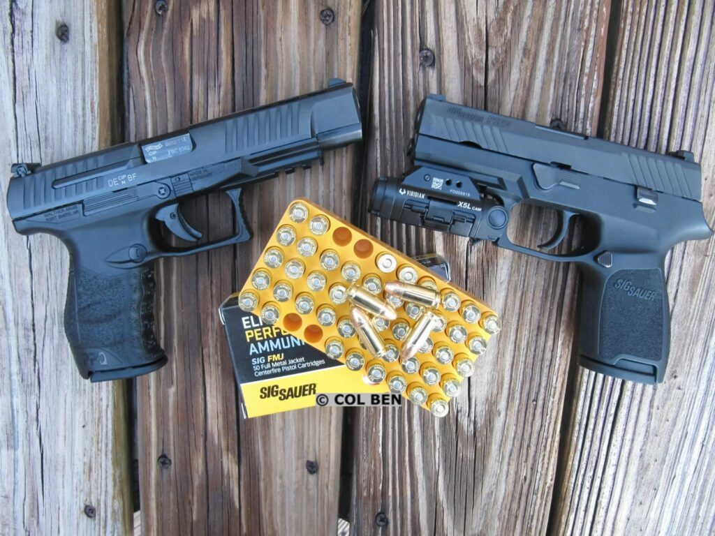 Walther PPQ M2 Full-Size Pistol and Sig Sauer 320 Compact Pistol with the X5L with Sig Sauer FMJ Ammo