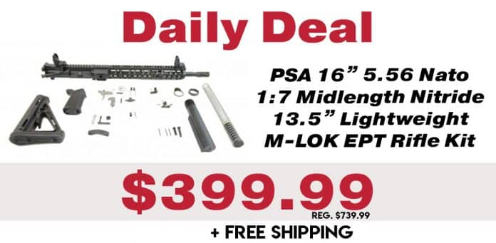 Daily Deal: PSA 5.56 Nato 1:7 Midlength Nitride 13.5
