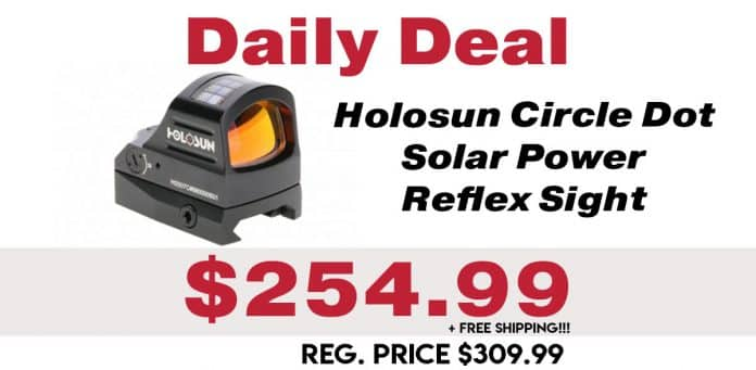 Daily Deal: Holosun Circle Dot Solar Power Reflex Sight