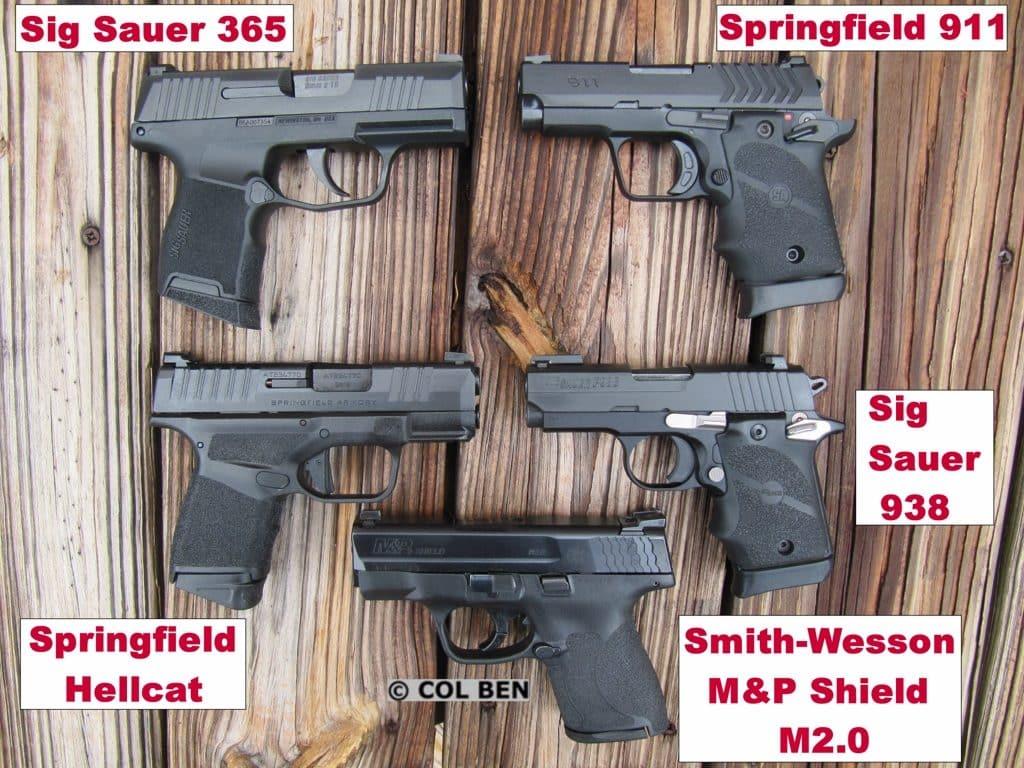 Sub-Compact Pistols Comparison