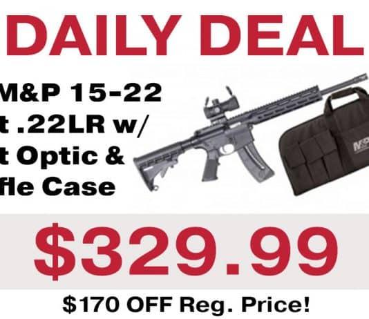 Daily Deal: S&W M&P 15-22 Sport .22LR Rifle w/ Dot Optic & Rifle Case