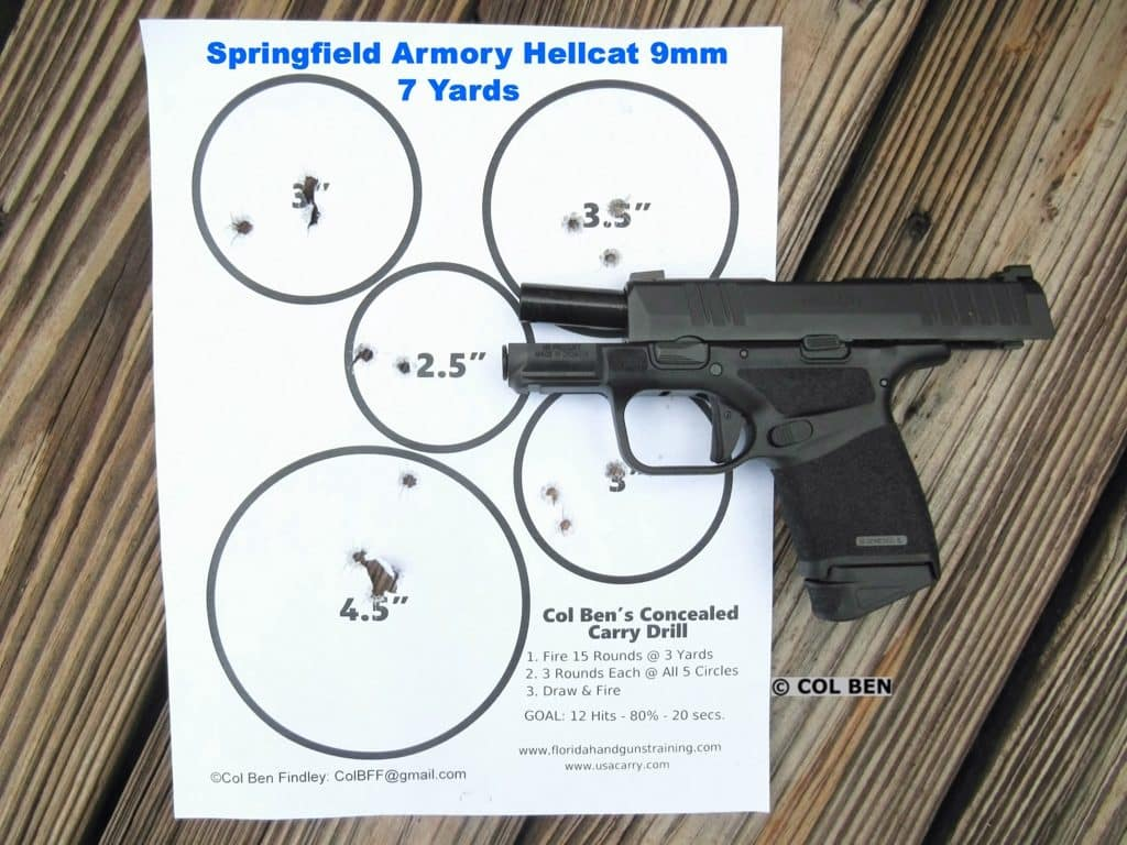 Target Hits with Hellcat 9mm at 7 Yards