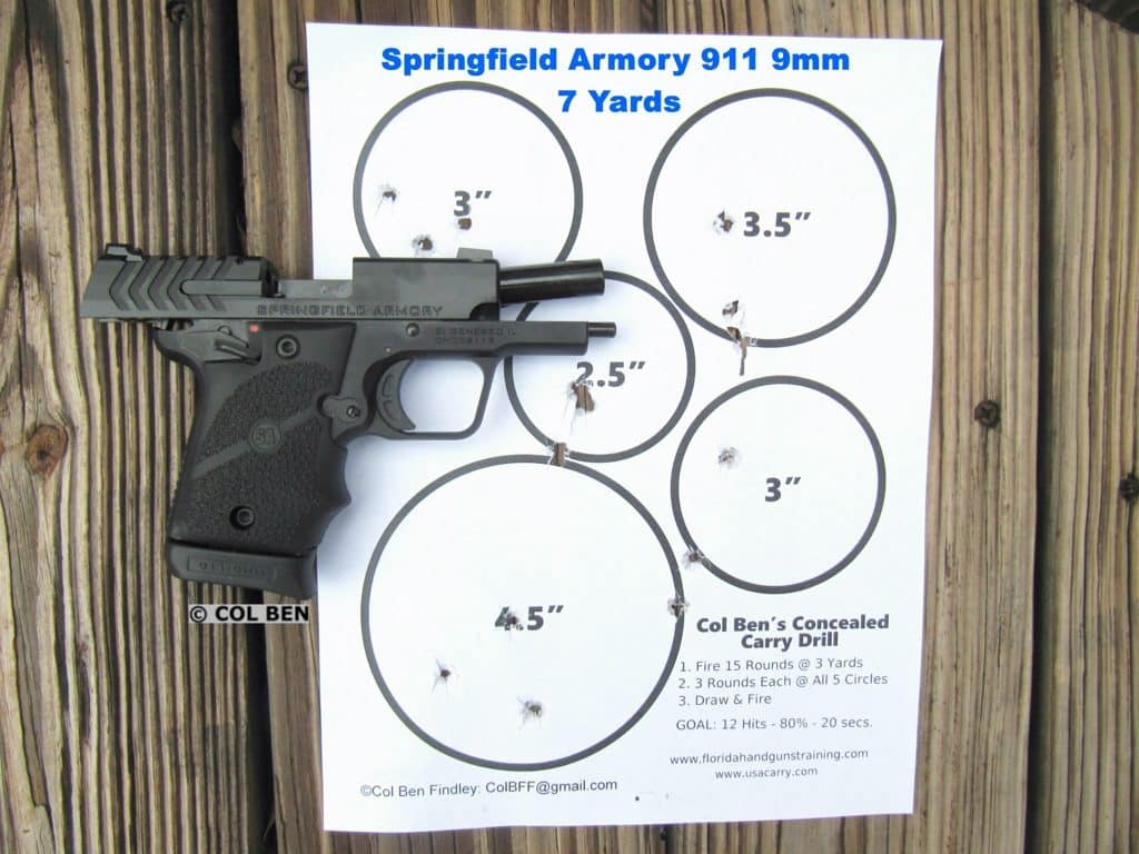 Target Hits with 911 9mm at 7 Yards