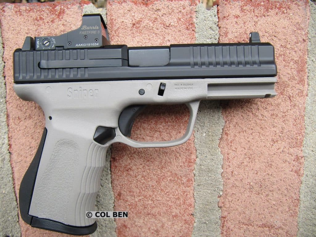 FMK 9C1 Gen 2 9mm Pistol with Suppressor-Height Front Sight for Co-Witness with Backup Iron Sights