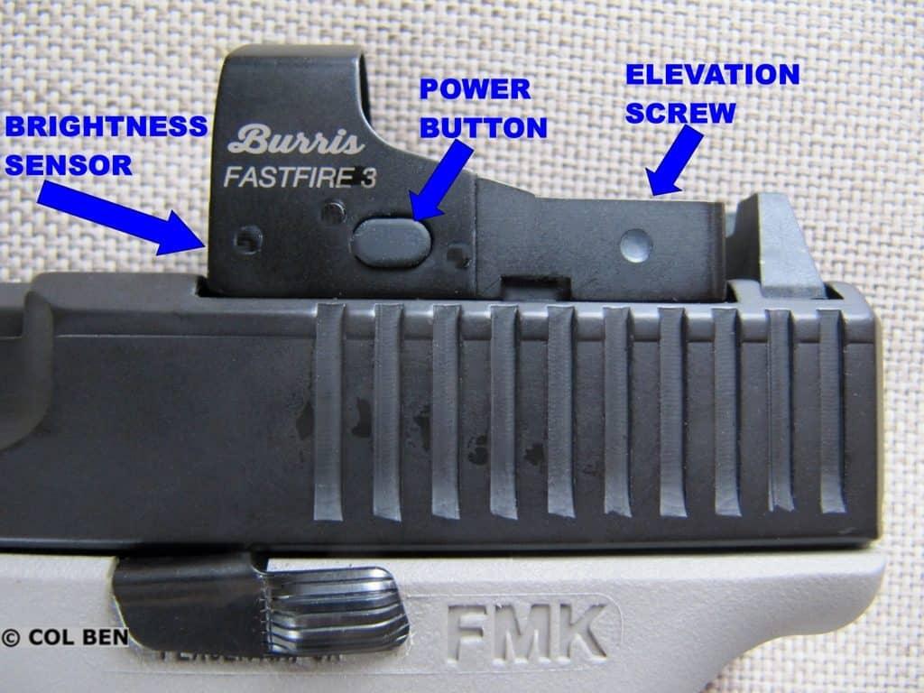 FMK 9C1 Gen 2 9mm Pistol with Slide Serrations & Burris Fastfire 3 Red Dot Sight