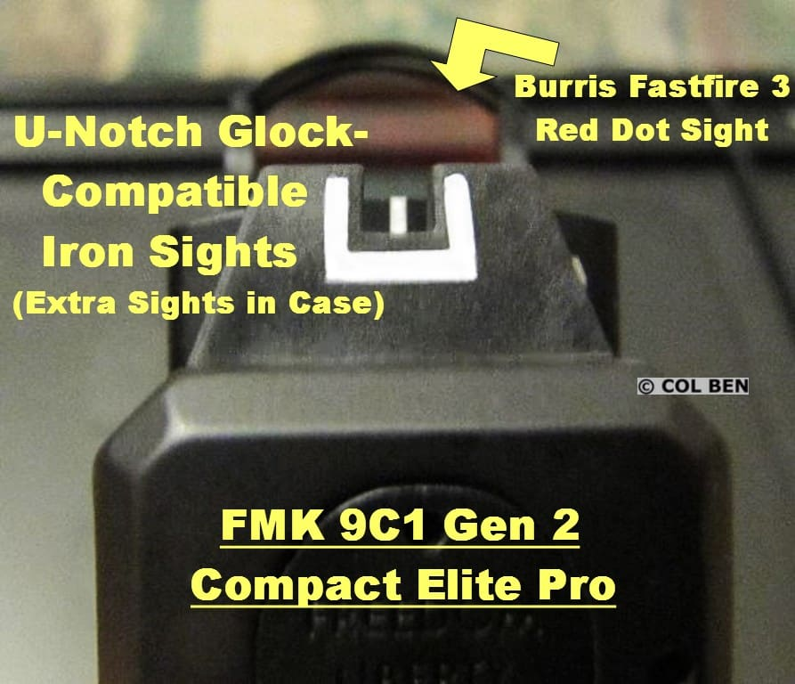 FMK FMK 9C1 Gen 2 Iron Sights from Rear