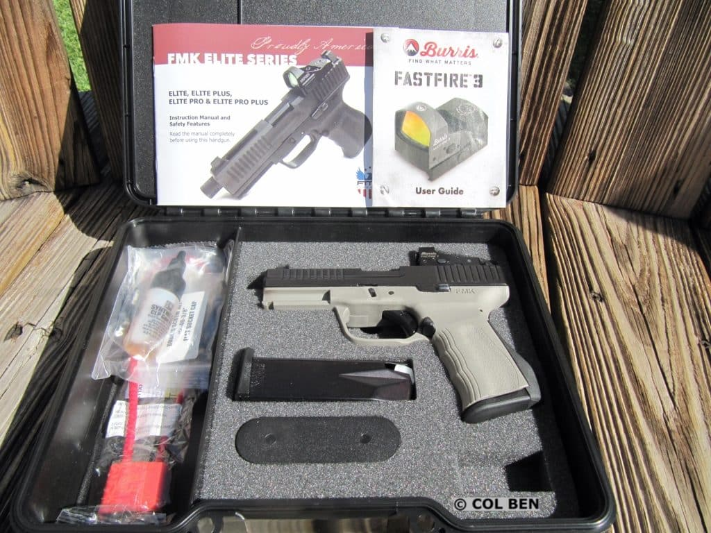 FMK 9C1 Gen 2 Elite Pro with Burris Fastfire 3 Red Dot Sight- Hard Case, 2 Mags, Lock, Sights, Manuals, Tools