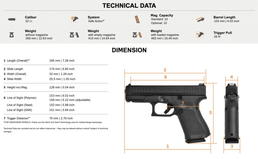 Glock 44 Specs