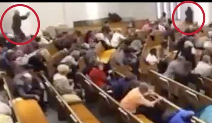 [GRAPHIC CONTENT] Video of Texas Church Shooter and Four Armed Citizens Springing to Action