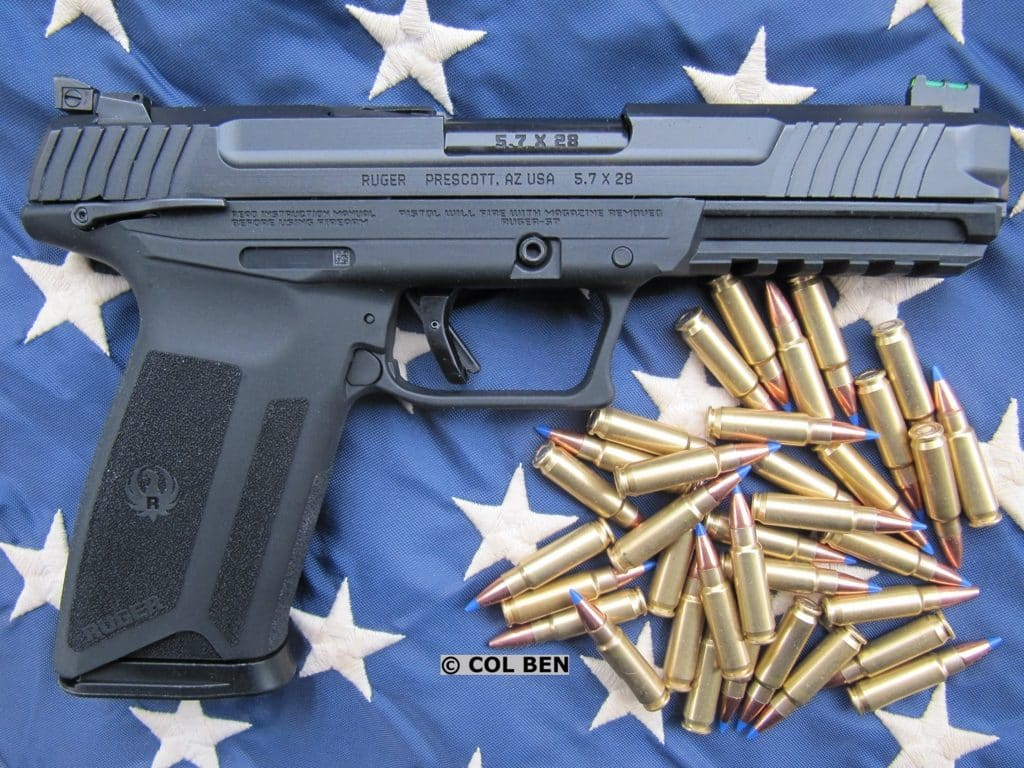 Ruger-57 Pistol with Ambi Safety, Rail, and Ammo Choices