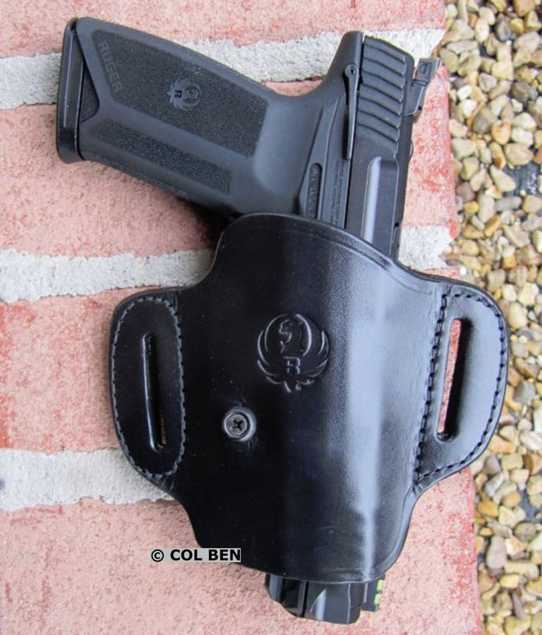 Ruger-57 Pistol in Optional Triple K 211 Cowhide Leather Holster from Ruger