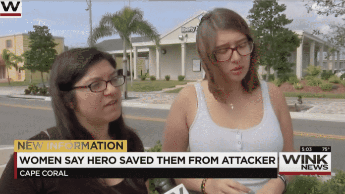Armed Citizen Saves Two Women and Two Others Being Chased By Violent Man