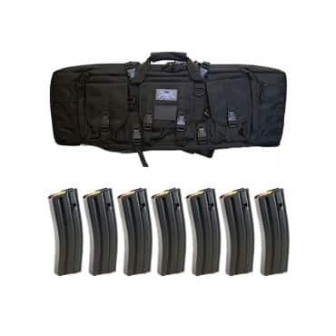 "PSA 36"" Single Gun Case & Seven 30rd D&H Magazines"