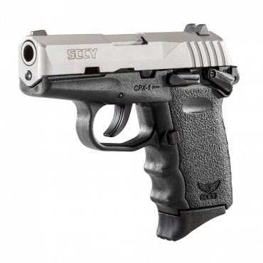 SCCY CPX-1 9mm Black & Stainless Pistol w/ Safety, (1 Magazine)