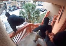 [VIDEO] Florida Homeowner Fires On Three Armed Robbers After They Break Into His House