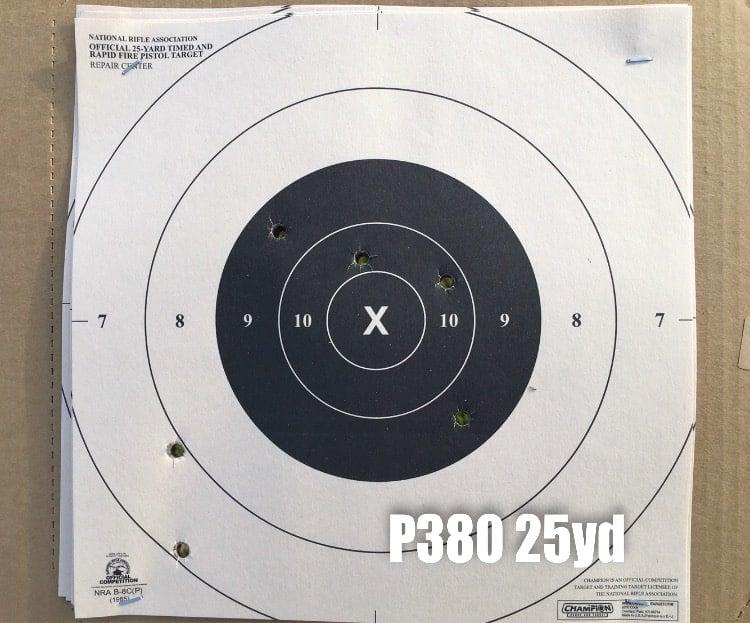 Kahr P380 Target Hits